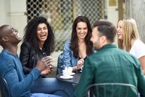 Lachen macht glücklich